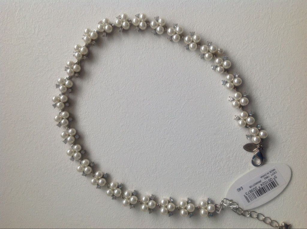 Pearl and crystal bridal necklace by Alan Hannah @ Debenhams