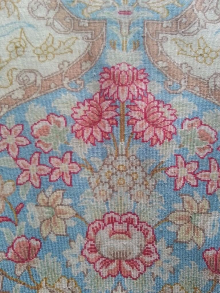 Beautiful and Unusual Silk Rug