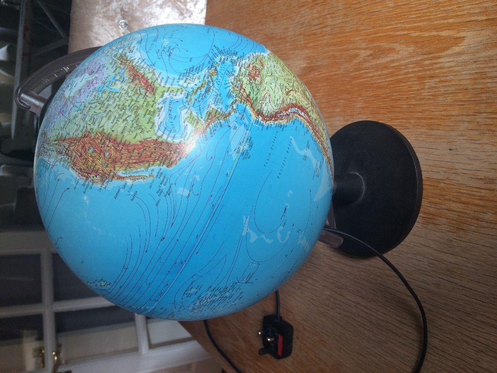 Globe lamp kids room or desk