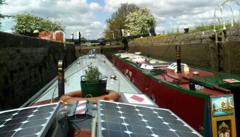 2 beautiful trad stern narrowboats for sale with midship engines.
