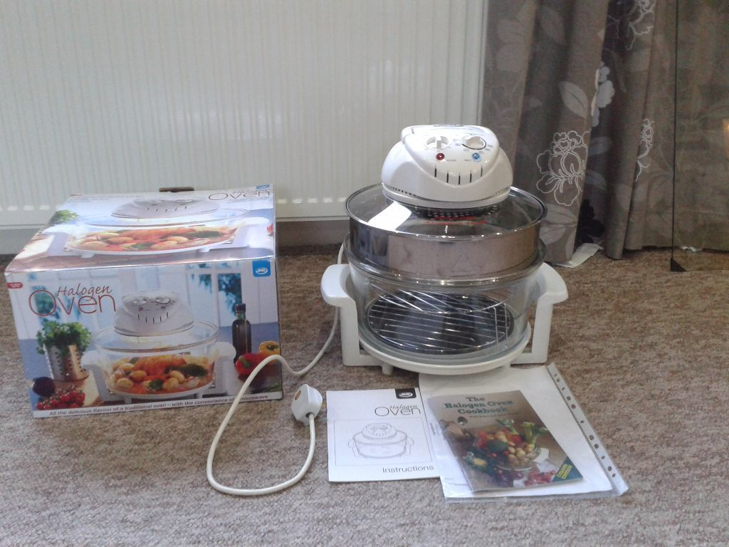 JML halogen oven with instructions and cookbook