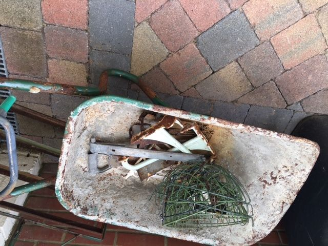 Metal Wheelbarrow (flat tyre) Free!