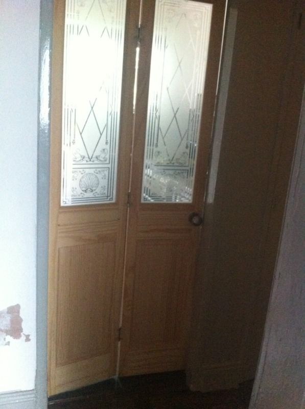 Bi folding pine wood door with handles reduced!less than half price