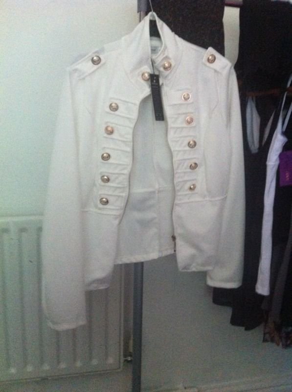 White military jacket size 10