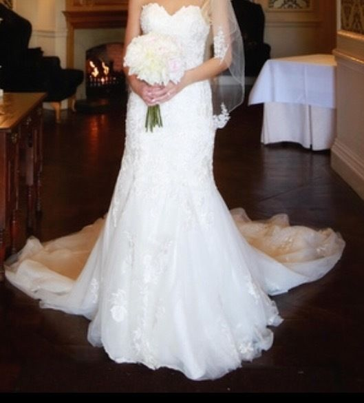 Fit and flare essence of Australia wedding gown size 8