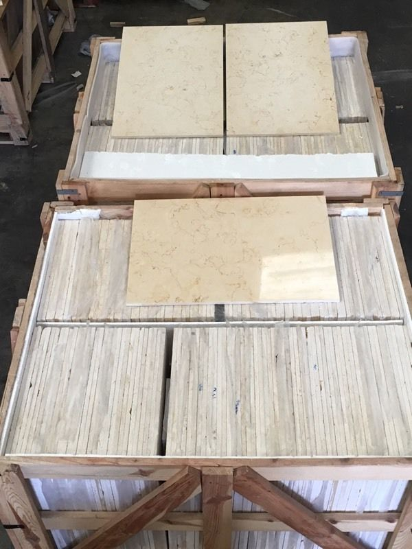 Crema Marfil polished marble tiles 400x600mm