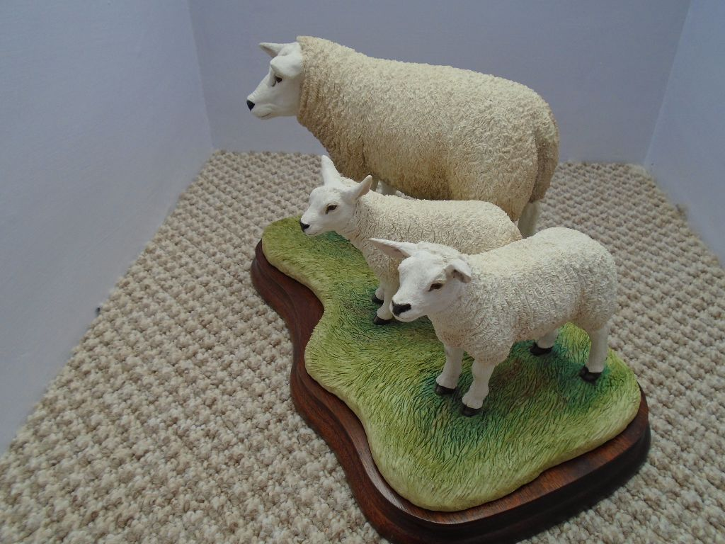 Border Fine Arts Texel Ewe and Lambs Ltd Edition