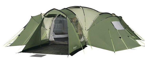 Outwell Hartford XL 8 berth tent with Outwell Extension