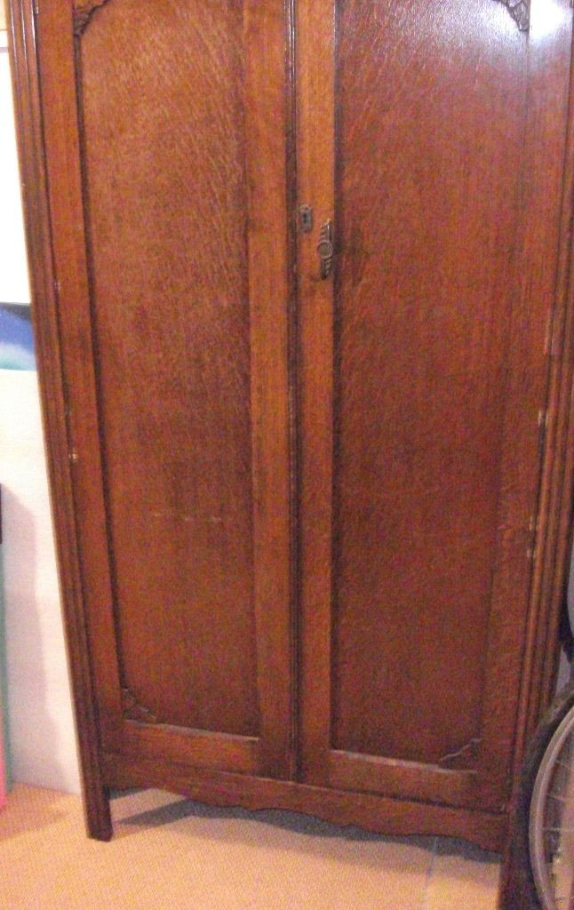 Vintage wardrobe circa 1930s ideal for up cycling. FREE