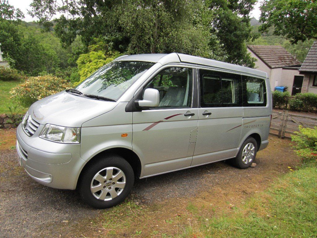 VW TROOPER LOWLINE. 09 Plate, silver, 2 berth.