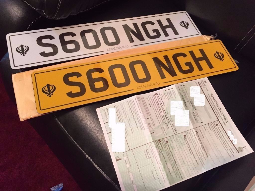 For sale is the S600NGH - SINGH - Private Number Plate on Retention - With New Number Plates