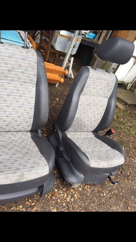 NEW SHAPE VOLKSWAGEN CADDY FRONT SEATS EXCELLENT CONDITION