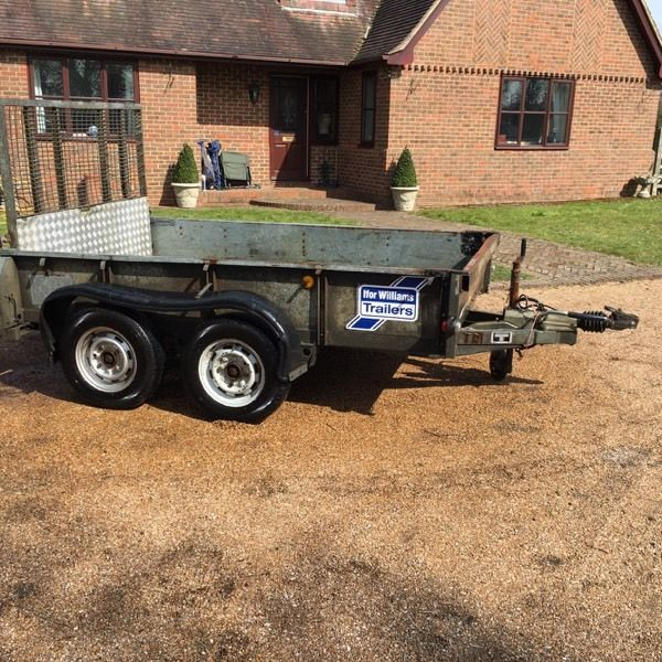 IFOR WILLIAMS GD85 PLANT TWIN AXLE DROP TAILBOARD TRAILER - 8ft X 5ft - L@@K!