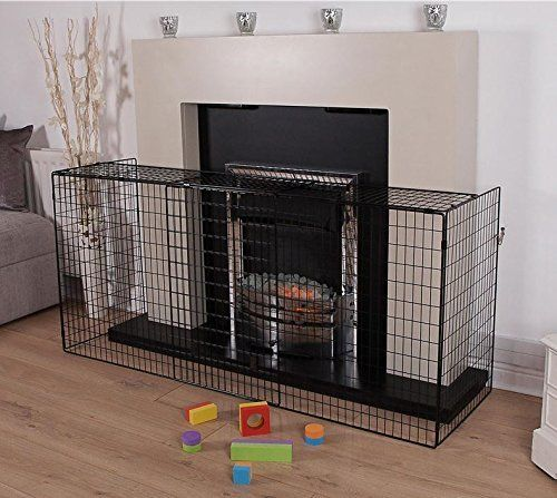 BRAND NEW BOXED Inglenook Nursery Guard Gate Fireplace Adjustable Black Extendable Modern