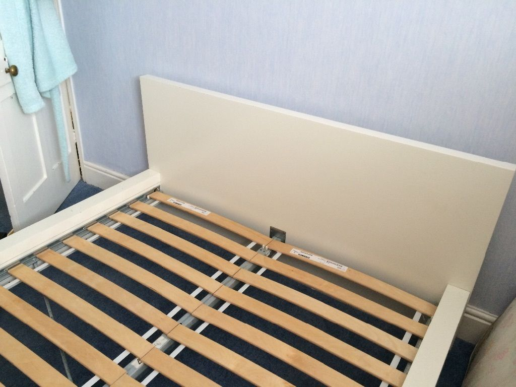 IKEA double bed white.