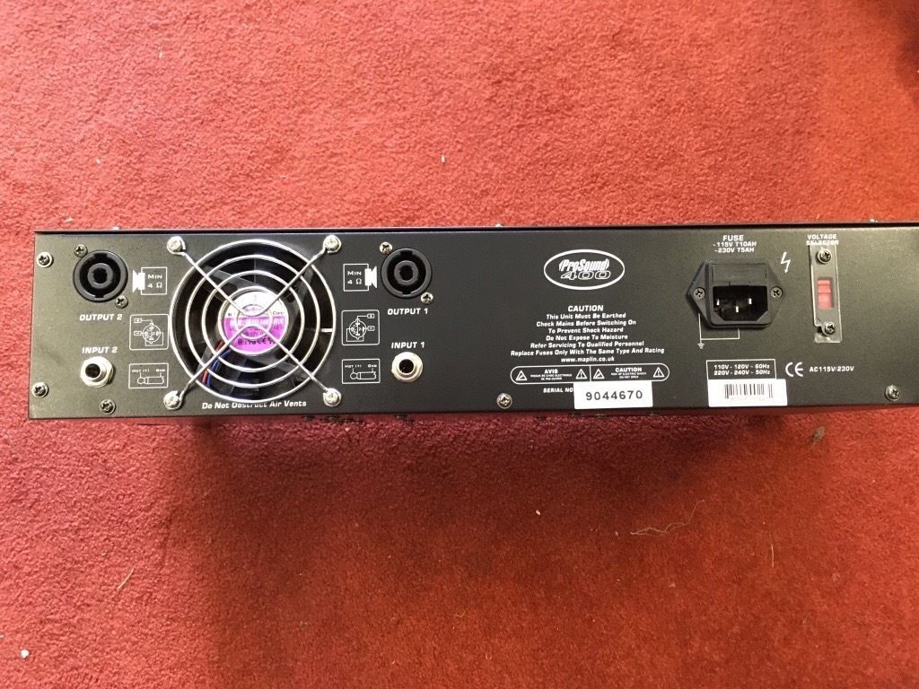 Prosound Power Amplifier 400 watts