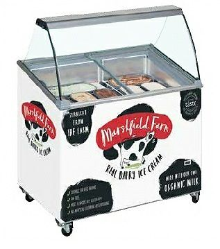Ice Cream Scooping Freezer with Canopy