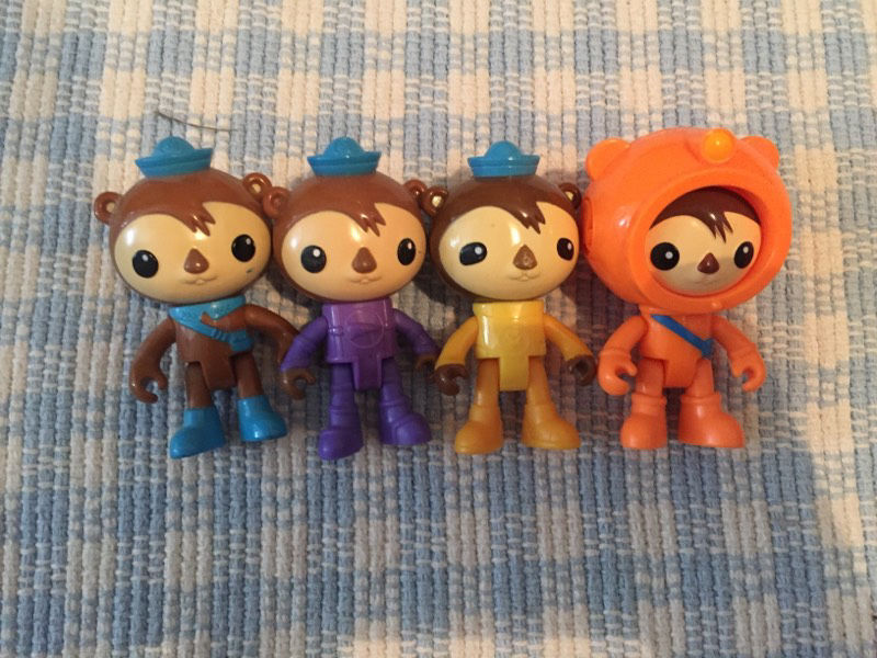 4 different versions of Shellington from Octonauts