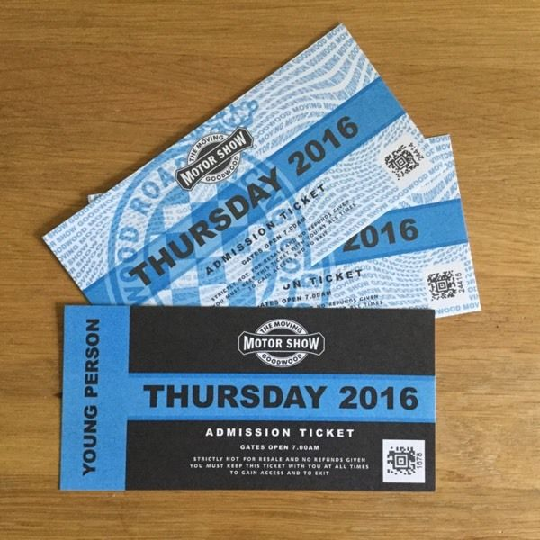 GOODWOOD FOS tickets Thursday 23/6 only