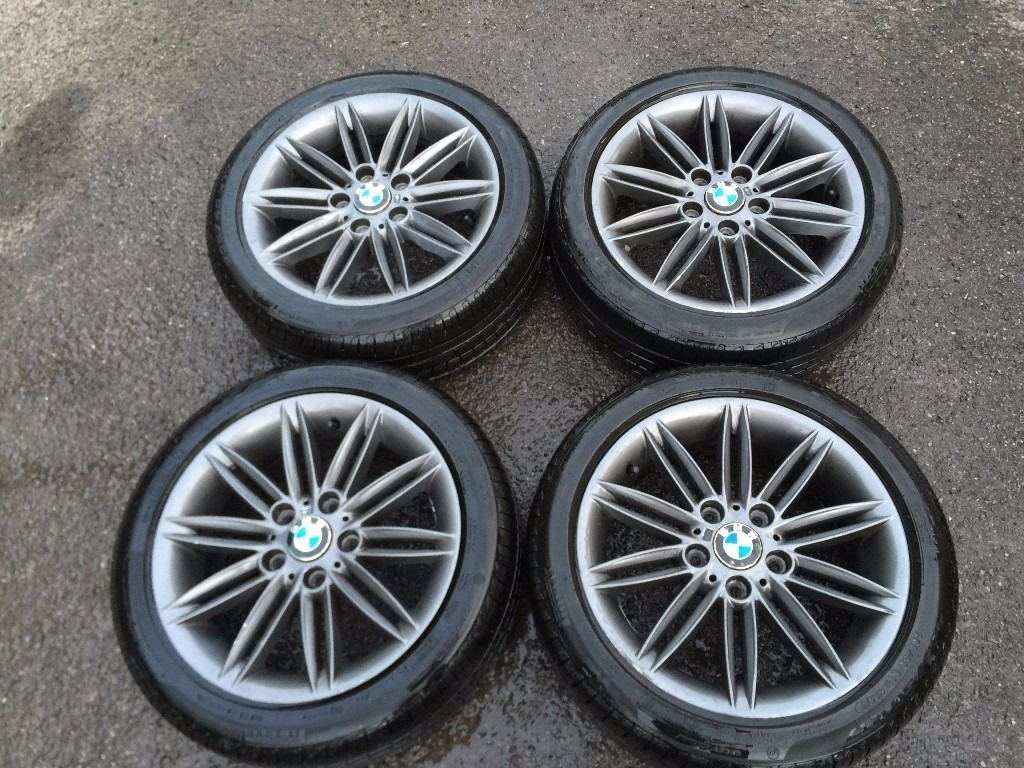 Bmw 4 X M Sport 17 Inch Genuine Alloy Wheels Pirelli Runflats