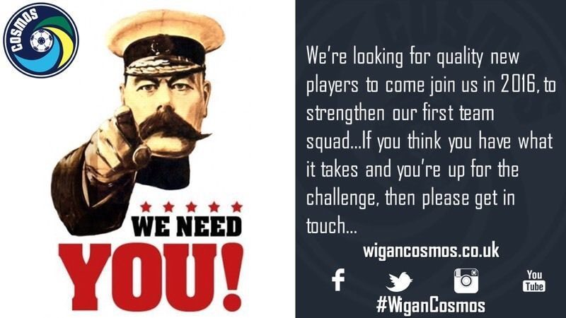 We NEED You....We Are Looking For New 11-A-Side Players For The 16/17 Season