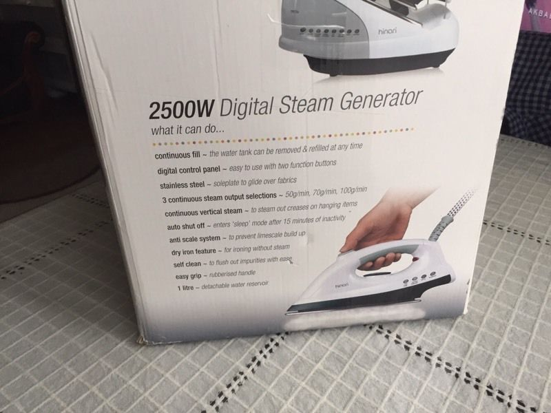Hinari digital steam generator iron 2500w