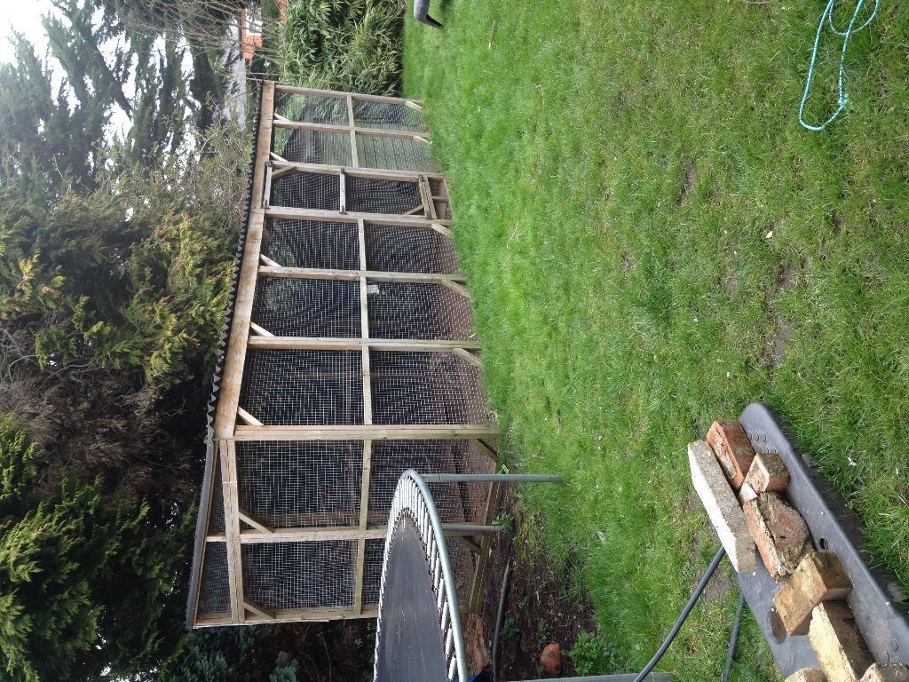 Extra large chicken run and coop