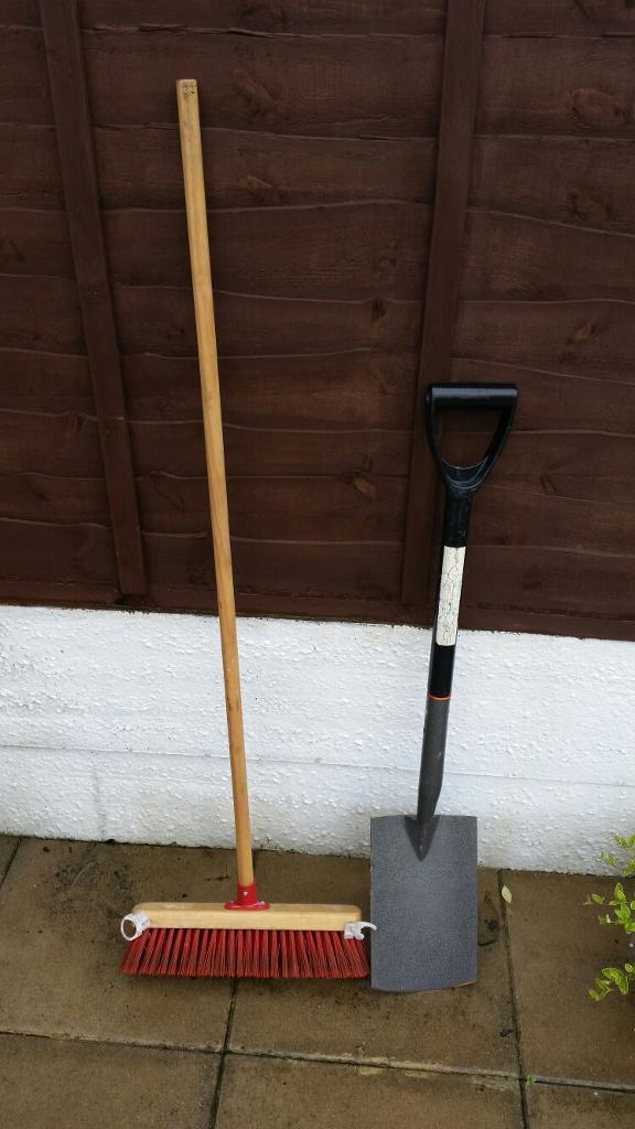 Heavy duty PVC broom and Spade