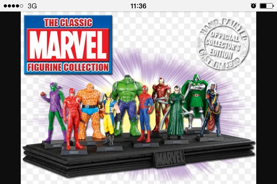 Marvel dye-cast figures and magazines (76 mint)