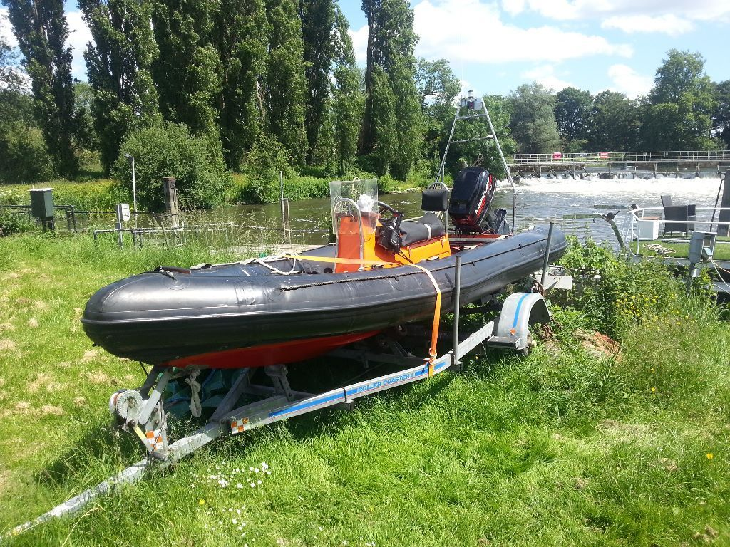 5 Meter R.I.B boat and 60hp outboard mercury engine