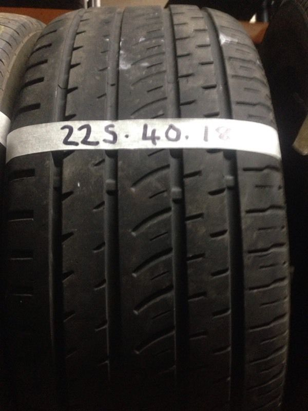 225-40-18 part worn tyres, best treads, fully tested, call Josh or Paul on 07557045695