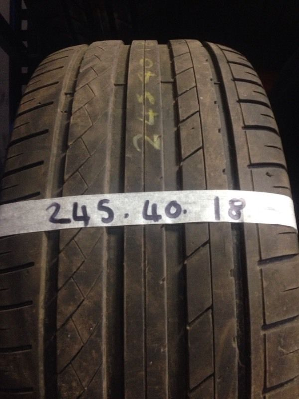 245-40-18 part worn tyres, best treads, fully tested, call Josh or Paul on 07557045695