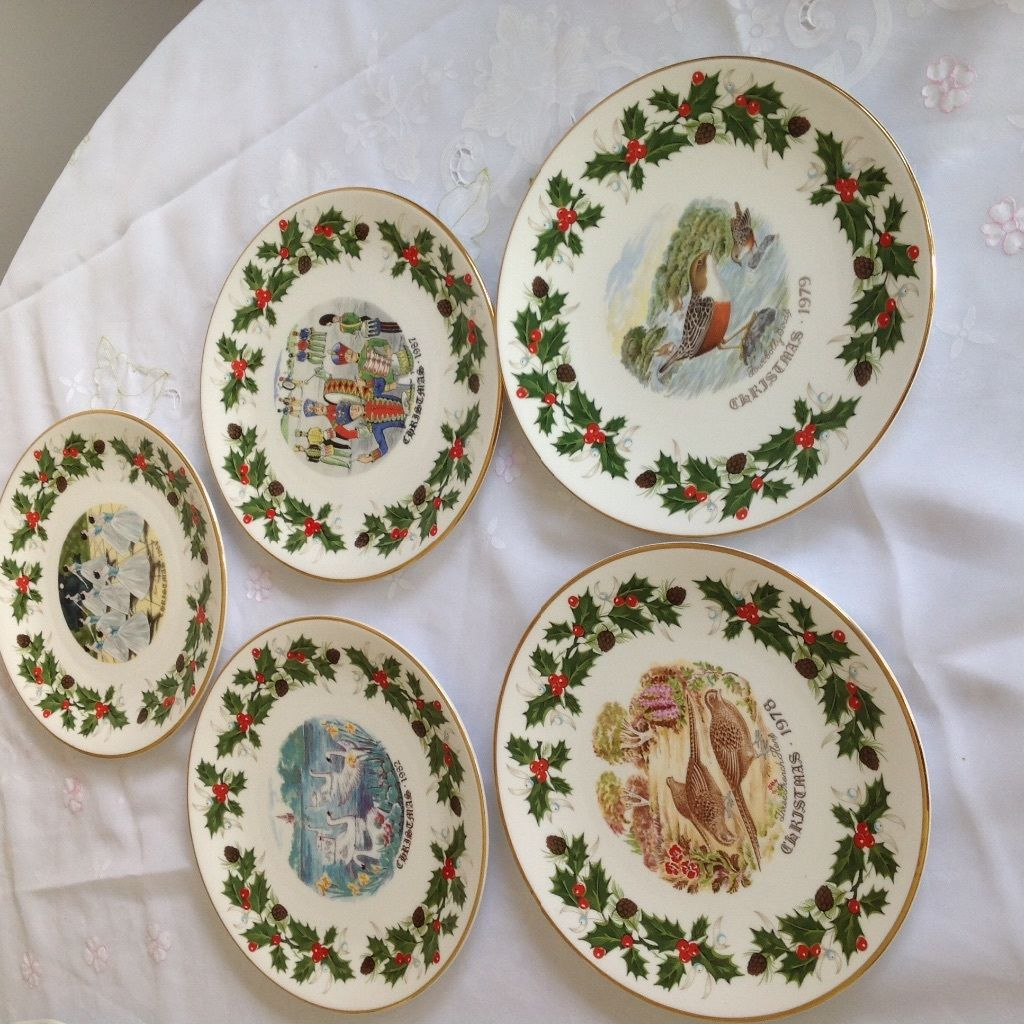 Twelve days of Christmas decorative Royal Grafton plates