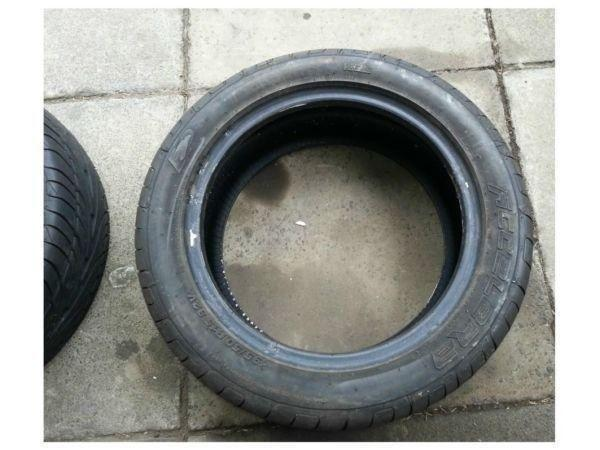 2 x Accelera 195 50 15 tyres little use