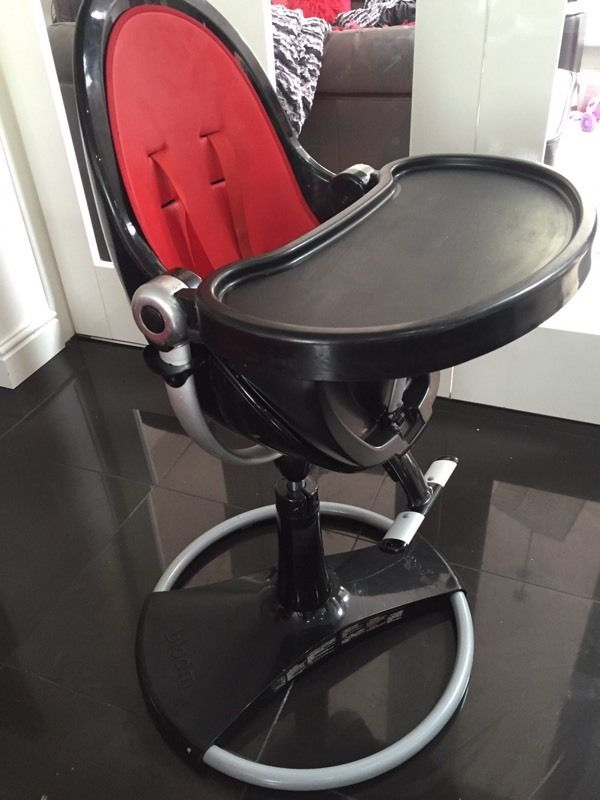 Bloom High Chair Fresco Red and Black