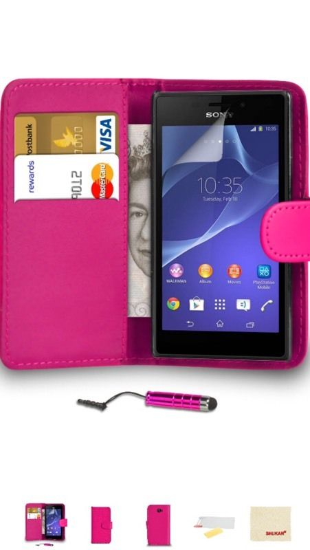 Sony Xperia leather wallet and phone cover