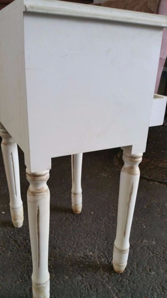 Shabby chic bedside/side table with 2 drawers