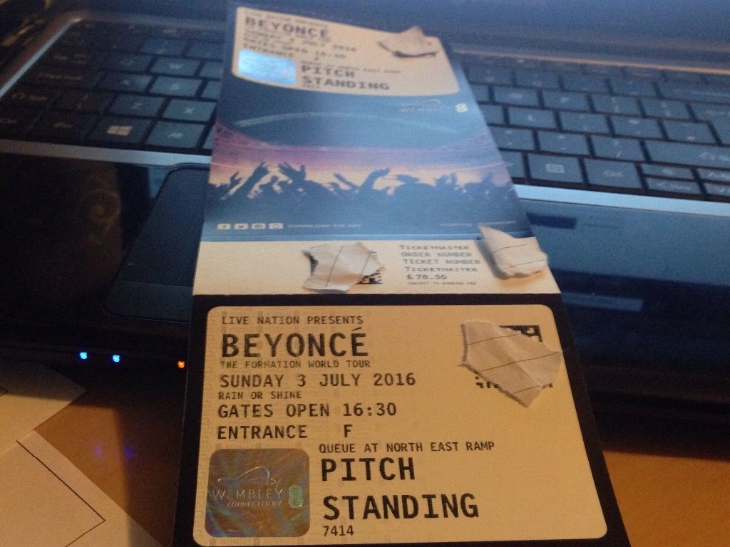 Beyonce Wembley Fan Club tickets