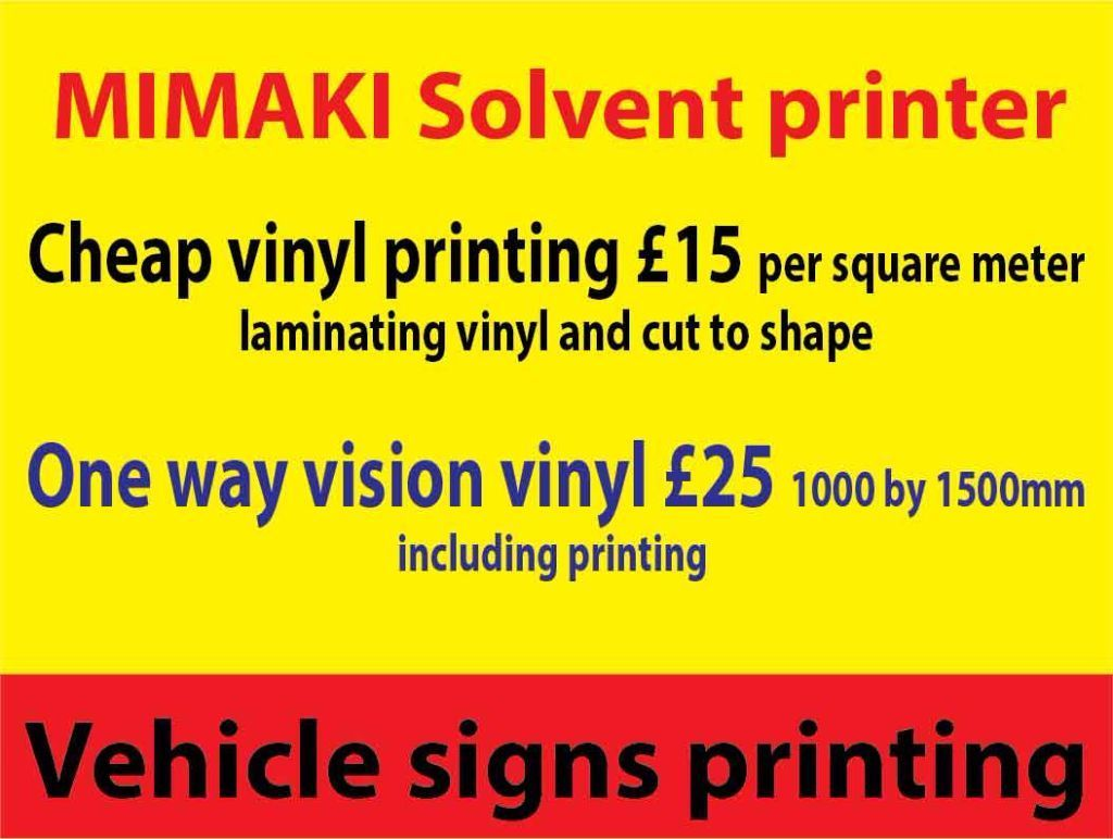 Vinyl Printing Services Cheap , magnetic , shop vindows one way vision contravision print, solvent
