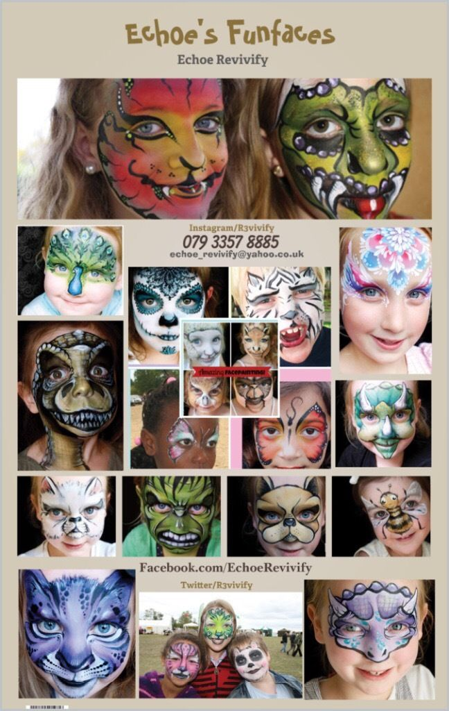 FACE PAINTING Amazing, Unique, 3D Artistic Professional Facepainting Face Painter North London