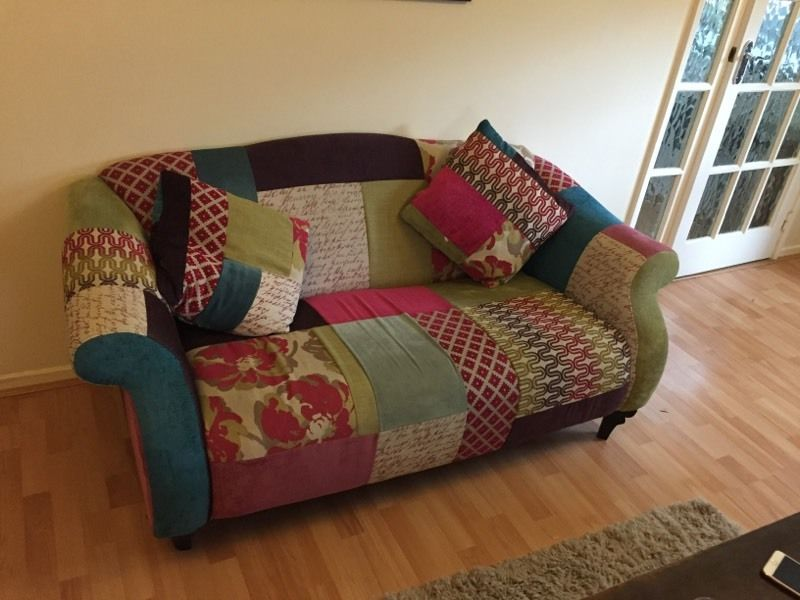 DFS SHOUT PATCHWORK SOFA X2