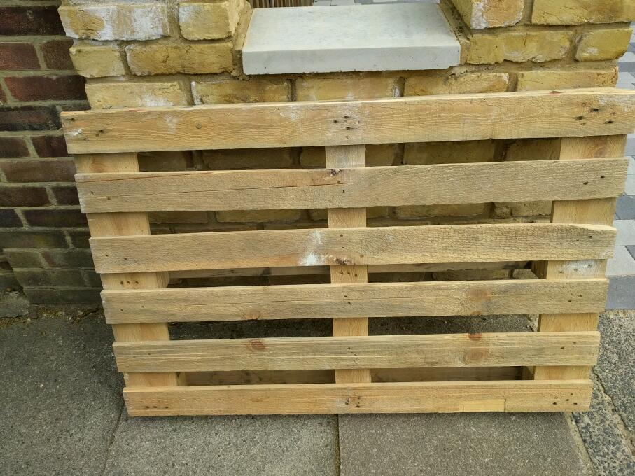 Once used pallets