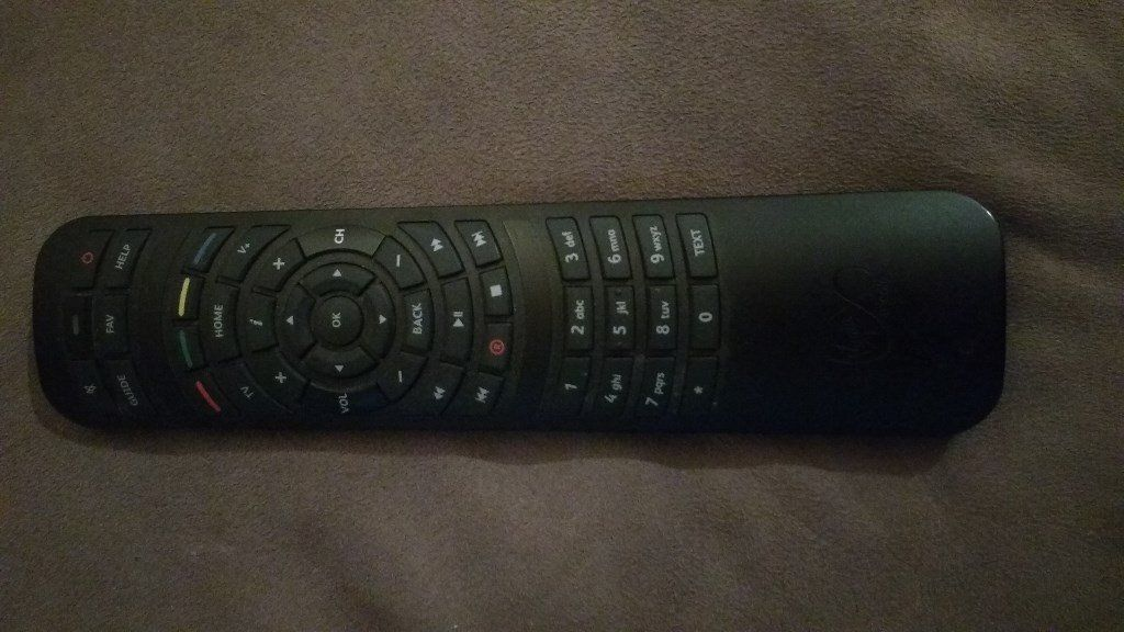 VIRGIN MEDIA RECORDABLE PVR + HD PVR+ REMOTE CONTROL