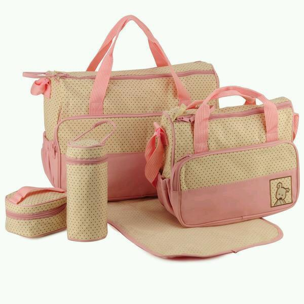 5 Pcs Multi-Function Baby Changing Bags
