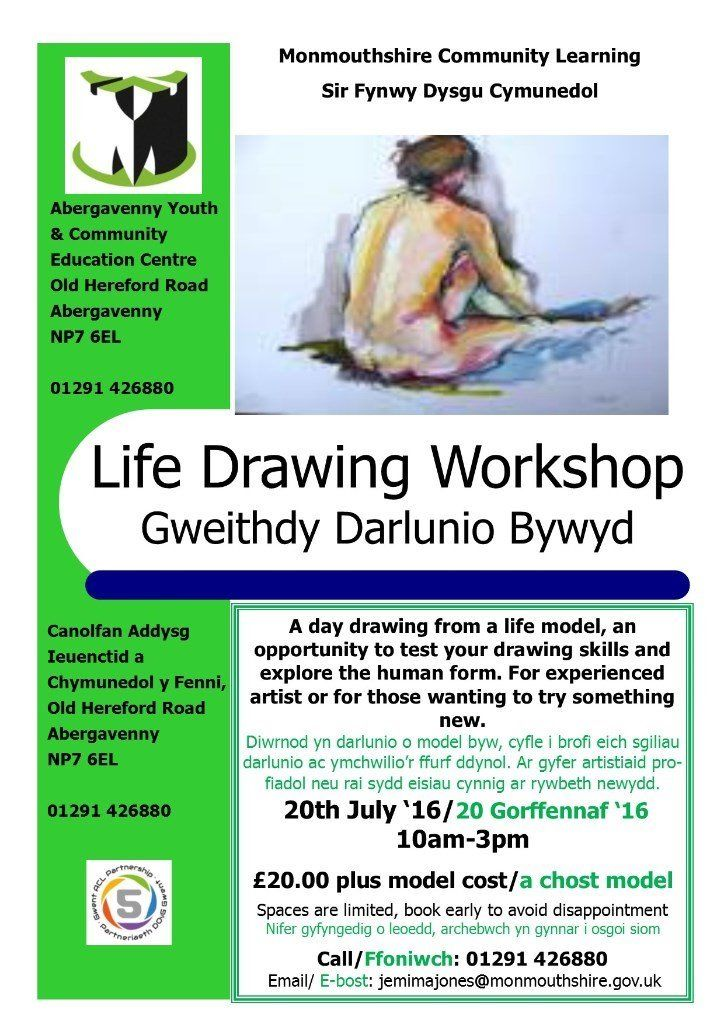 Life Drawing Art Workshop in Abergavenny