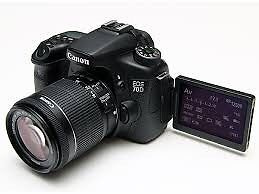 As NEW Canon 70D DSLR still under warranty!