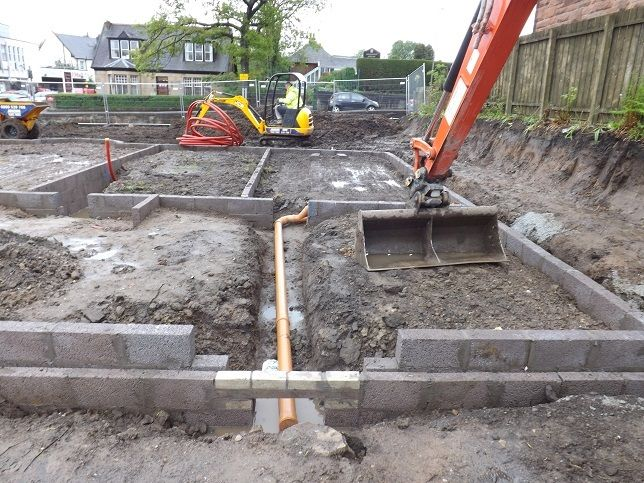 Groundworks concrete foundations digger hire excavation home extension house extensions house plots
