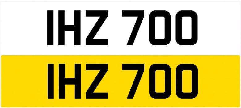 IHZ 700 Personalised Number Plates Audi BMW Ford Golf Mercedes Kia Vauxhall