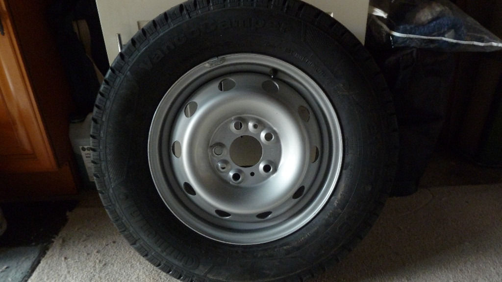 Genuine Fiat Motorhome Spare Wheel and continental Vancocamper Tyre.
