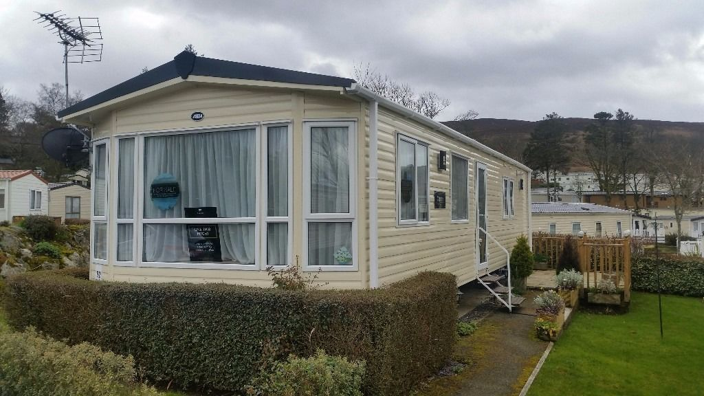 STATIC CARAVAN FOR SALE IN NORTH WALES - BRYNTEG PARK OPEN 12 MONTHS - LUXURY CARAVAN WITH HEATING